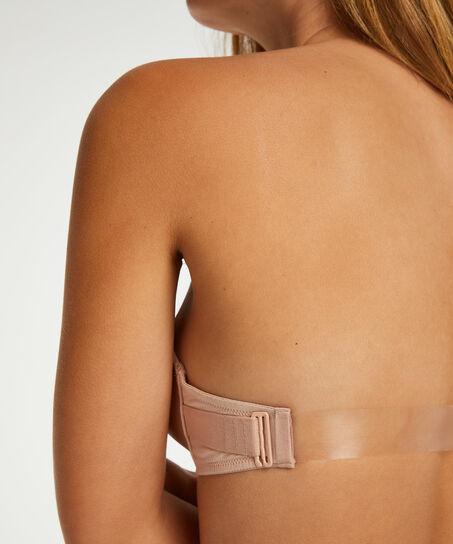 Voorgevormde push-up beugel bh Transparent Back, Huidskleur