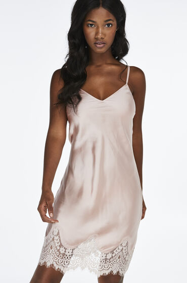Hunkemöller Slipdress Satin Lace Roze