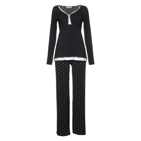 Pyjama set Pam, Zwart