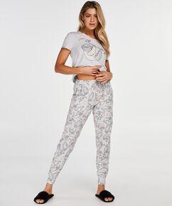 Pyjama top korte mouwen jersey, Grijs