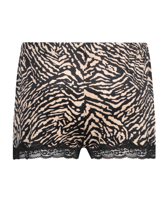 Shorts Velours Zebra, Zwart, main