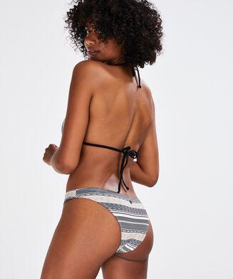 Triangle bikinitop Jacquard Goddess Doutzen, Zwart