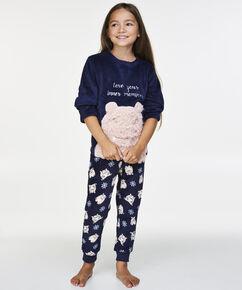 Fleece pyjamabroek Teens, Blauw