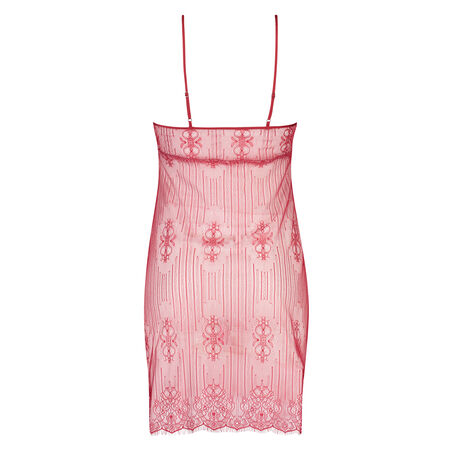 Slipdress Mesh Lace, Rood
