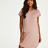 Zwangerschapsnachthemd met korte mouwen, Roze