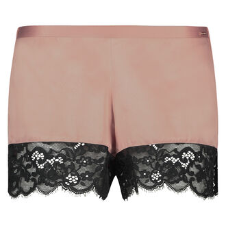 Pyjama short satin Poppy, Huidskleur