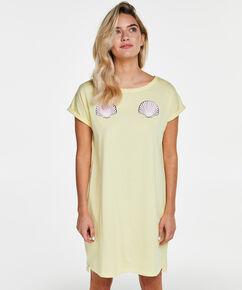 Nachthemd boothals, Geel