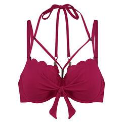 Voorgevormde beugel bikinitop Scallop Glam, Roze