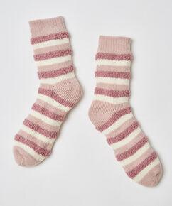 Cosy sokken stripe, Roze