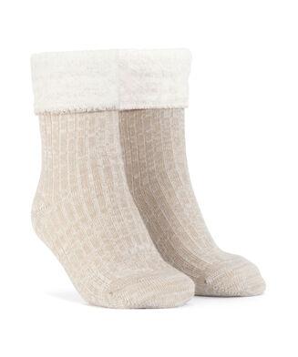 1 paar Cosy rib sokken, Wit