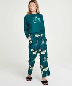 Petite pyjamabroek Lotus Bird, Grijs