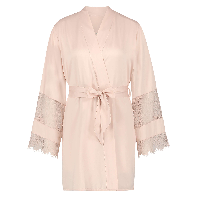 Kimono satijn Bridal, Roze, main