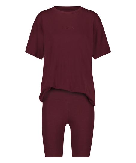 Korte pyjama set Biker, Rood
