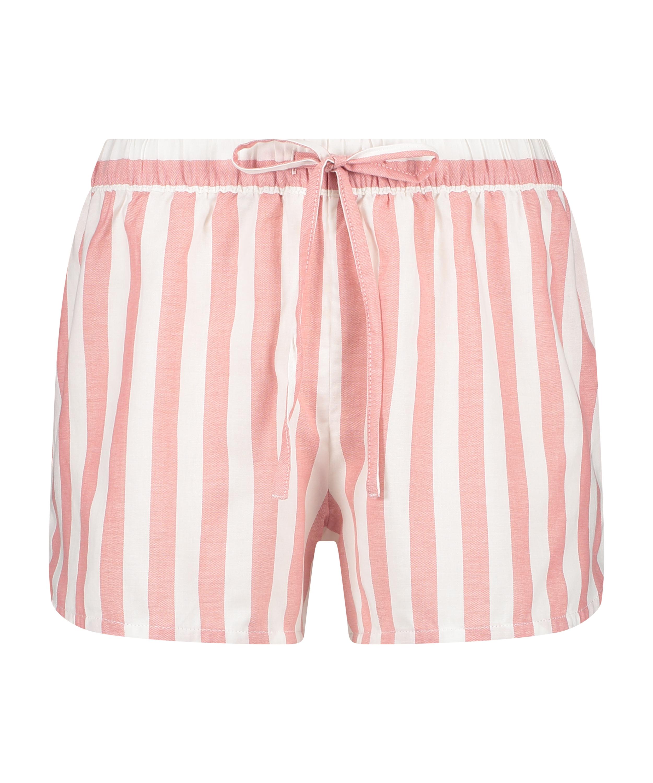 Shorts Chambray Stripe, Roze, main