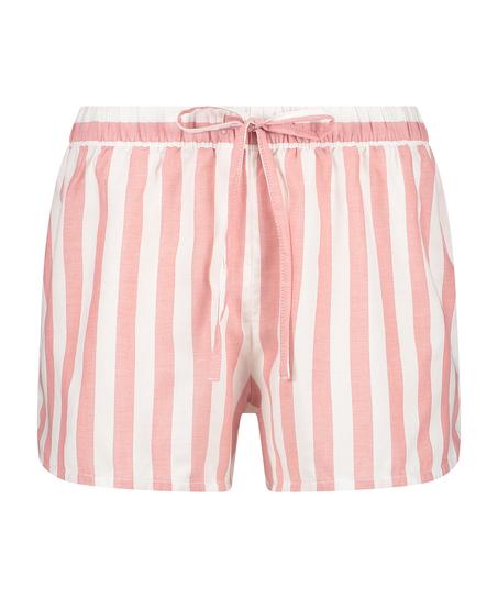 Shorts Chambray Stripe, Roze