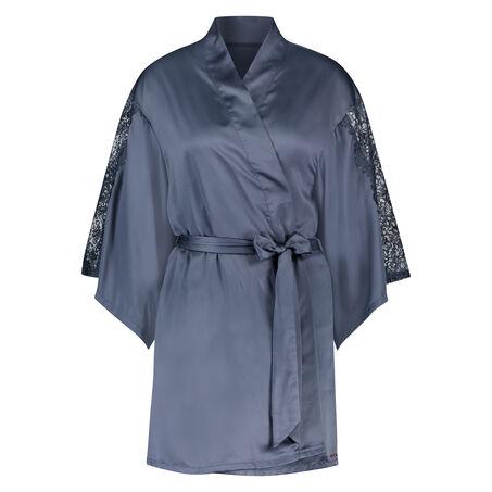 Kimono Lace Satin, Grijs