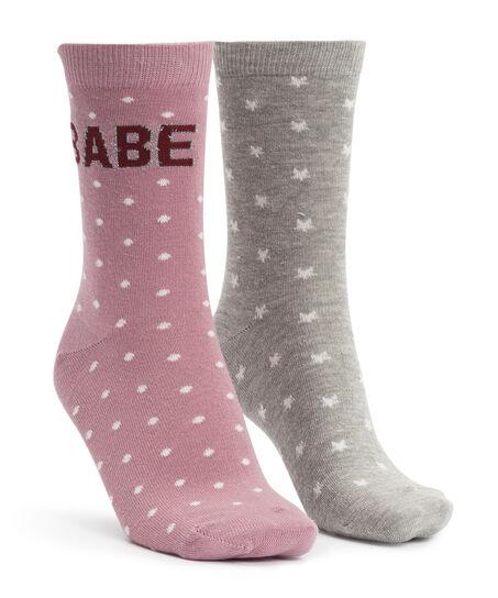 2 paar Katoenen Sokken, Roze