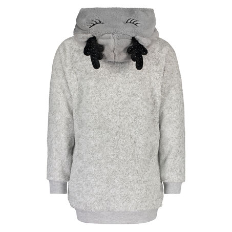Sweater Fleece Long, Grijs