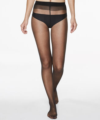 Panty 15 Denier Anti-Ladder, Zwart
