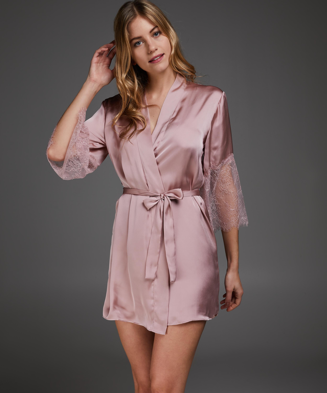 Kimono Satijn Lily, Roze, main