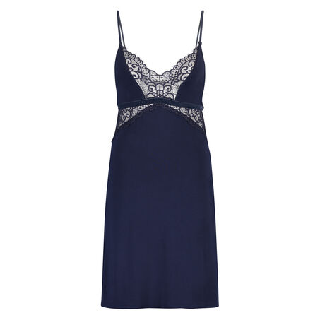 Lace slipdress, Blauw