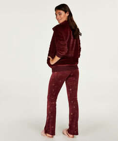 Vest Fleece Fur, Rood