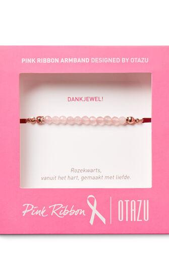 Armband Pink Ribbon, Roze