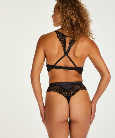 High waist string Niany, Zwart
