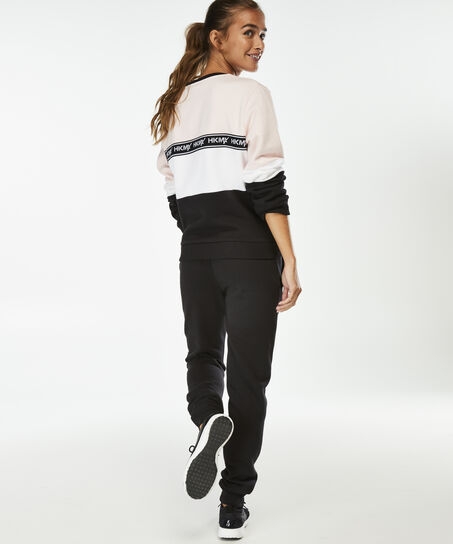 HKMX Sweater Fleece Colourblock, Roze