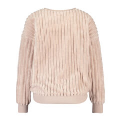 Top lange mouwen fleece, Roze