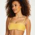 Voorgevormde bandeau bikinitop Carmel, Geel