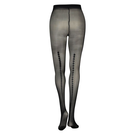 Panty Leatherlook Print, Zwart