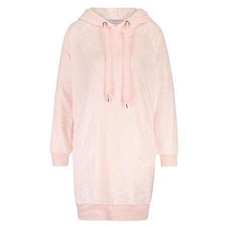 Robe Dress Fleece Heart, Roze
