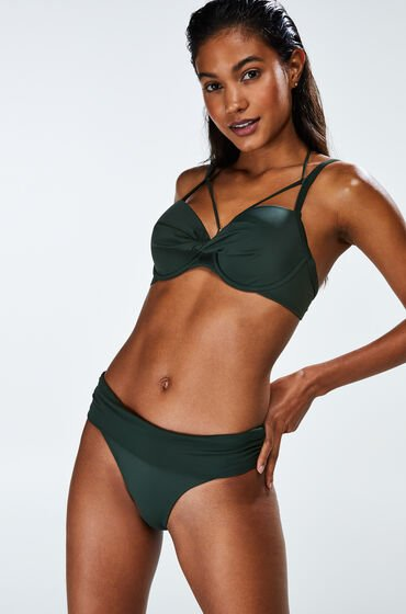 Hunkemöller Fold over Bikinislip Sunset Dream Groen
