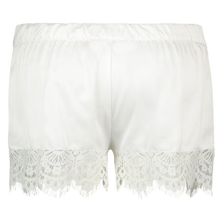 Pyjama short Satin Bridal, Wit