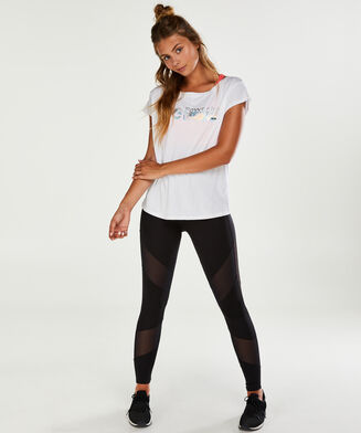 HKMX Sportshirt met korte mouwen, Wit