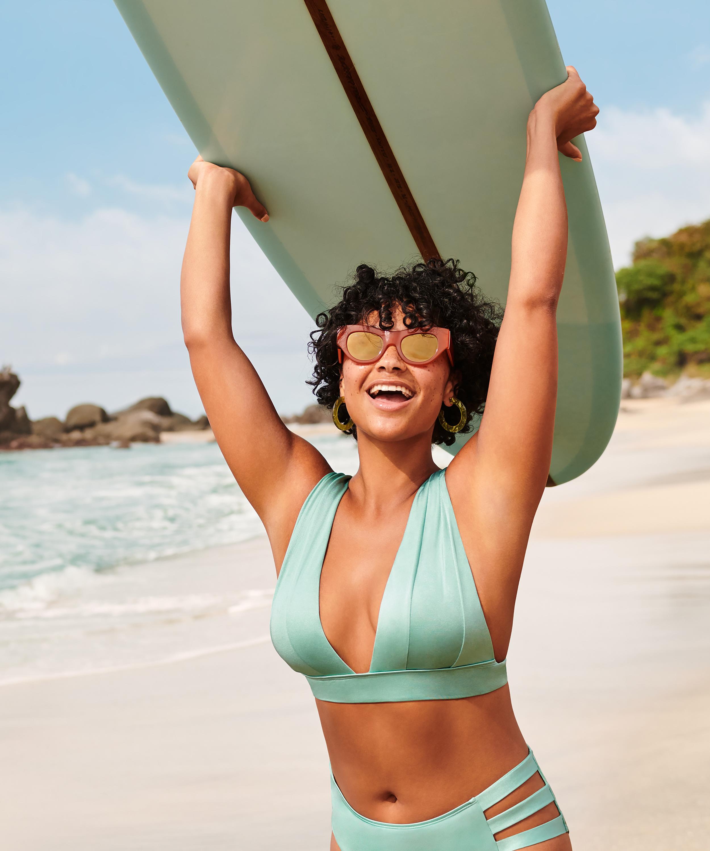 Triangle bikinitop SoCal, Groen, main