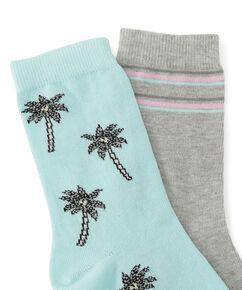 2 paar Katoenen Sokken, Blauw