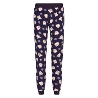 Fleece pyjamabroek, Blauw