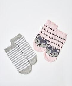 2 paar Sokken, Roze