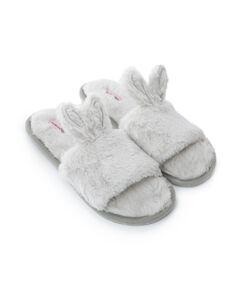 Huis slippers Fake fur bunny, Grijs