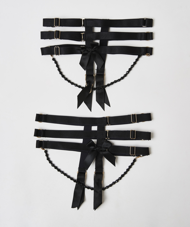 Private Jarretel Cuffs, Zwart, main