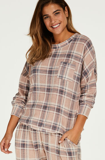 Hunkemöller Pyjama top lange mouwen jersey Roze
