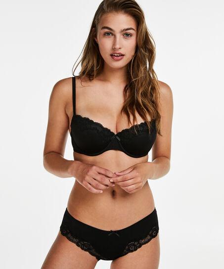 Slip Secret Lace, Zwart