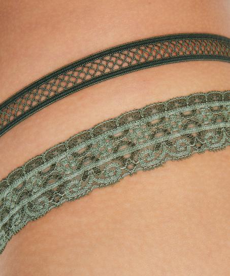 Extra lage string Martha, Groen
