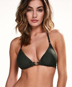 Triangle bikinitop Green Lines, Groen