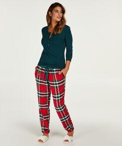 Pyjamatop lange mouwen, Groen