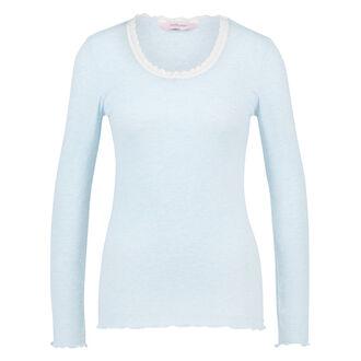 Pyjamatop longsleeve rib, Blauw
