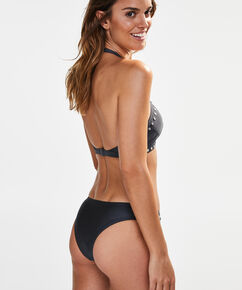 High neck triangle bikinitop, Grijs