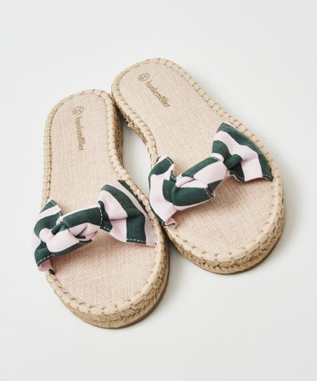 Sandalen printed knot, Groen